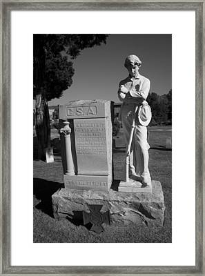 Confederate Soldier Memorial Framed Print by Kathy Clark