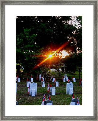 Framed Print featuring the photograph Confederate Sunset by Lyn Calahorrano
