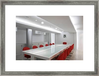 Conference Room Interior Framed Print by Setsiri Silapasuwanchai