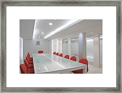 Conference Room Framed Print