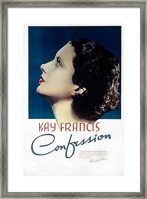 Confession, Kay Francis, 1937 Framed Print by Everett