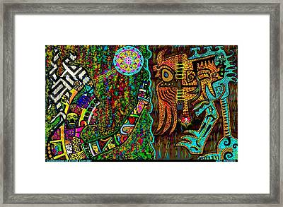 Confessions Of A Soul Traveller Framed Print by Myztico Campo