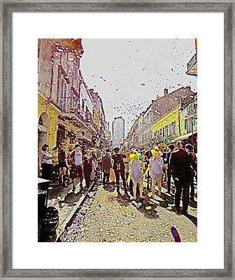 Confetti Sky On Mardi Gras Day In New Orleans Framed Print