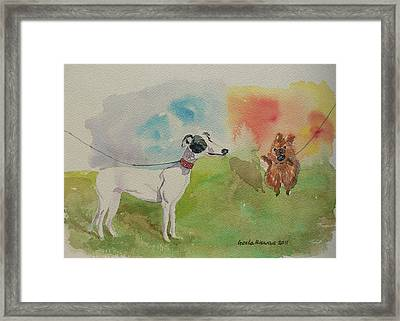Framed Print featuring the painting Confidence  by Geeta Biswas