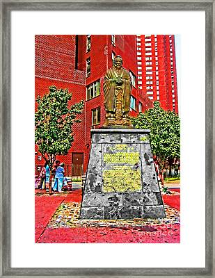 Confucius Framed Print by Anne Ferguson