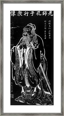 Confucius Ca. 551-ca. 479 Bc, 19th Framed Print
