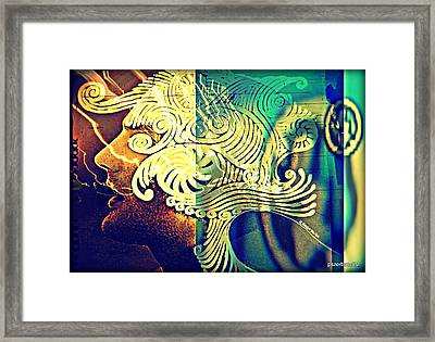 Confused Meanderings Framed Print