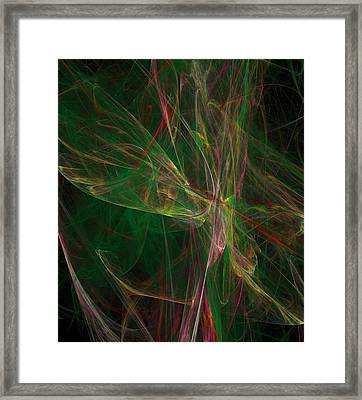 Framed Print featuring the digital art Confusion by Ester  Rogers