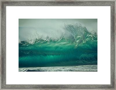 Confusion In Torquoise Framed Print