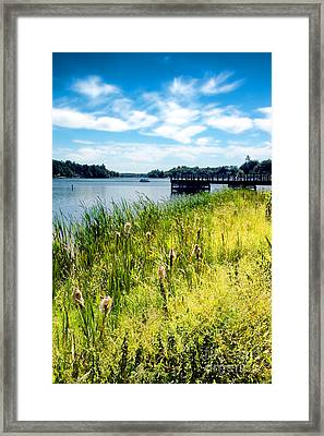 Congamond Lake Framed Print