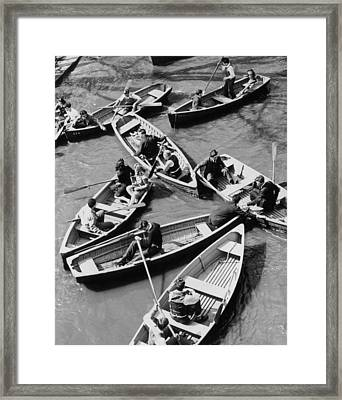 Congested Boating Framed Print by Mac Gramlich