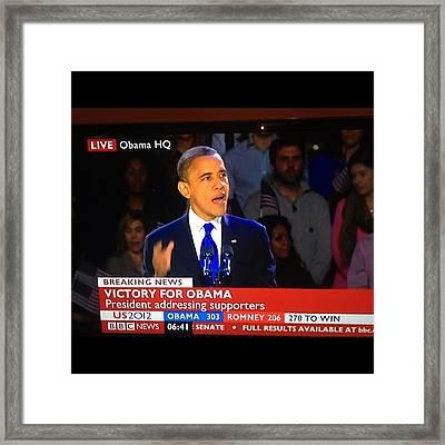 Congratulations...mr. President. Well Framed Print