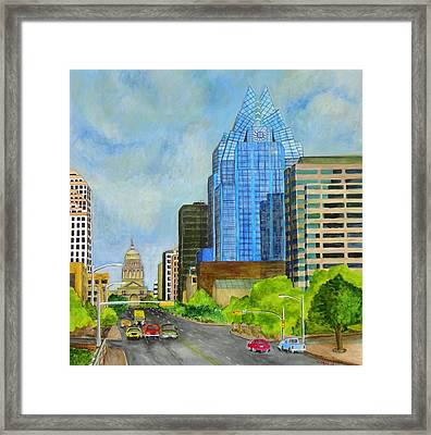 Congress Avenue Austin Texas Framed Print by Manny Chapa