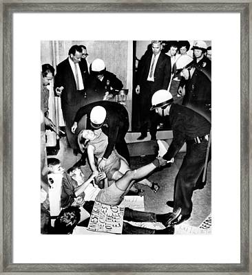 Congress Of Racial Equality Sit-ins Framed Print by Everett