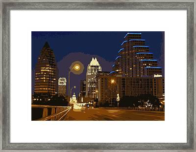Congress Street Bridge Color 16 Framed Print