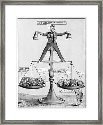 Congressional Scales, A True Balance Framed Print by Photo Researchers