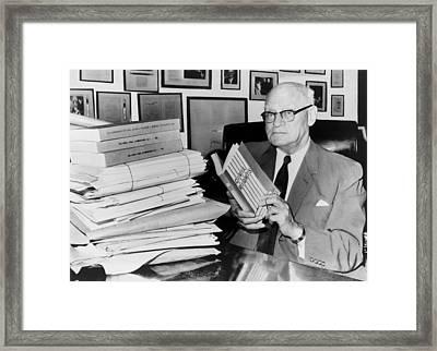 Congressman Emanuel Celler Framed Print by Everett