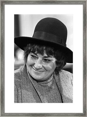 Congresswoman Bella Abzug At Press Framed Print by Everett