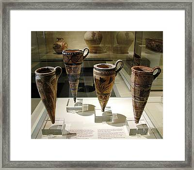 Conical Rhytons Framed Print by Andonis Katanos