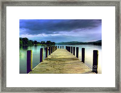 Coniston Jetty Framed Print by Neil Wharton