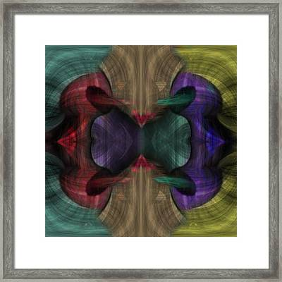 Conjoint - Multicolor Framed Print
