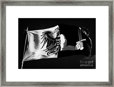 Connacht Provincial Flag Flying In Republic Of Ireland Framed Print