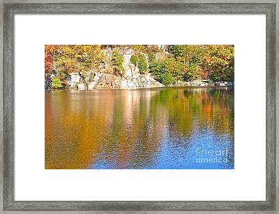 Connecticut Autumn Pond Framed Print by Cindy Lee Longhini