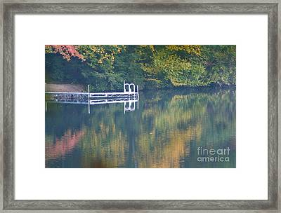 Connecticut Autumn Reflections Framed Print by Cindy Lee Longhini