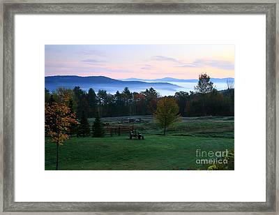 Connecticut River Valley Sunrise Framed Print by Butch Lombardi