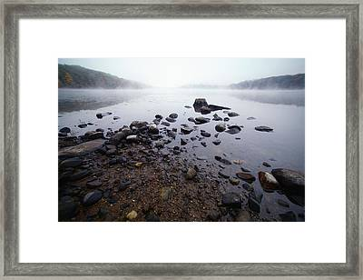 Connecticut Rocks Framed Print by Karol Livote
