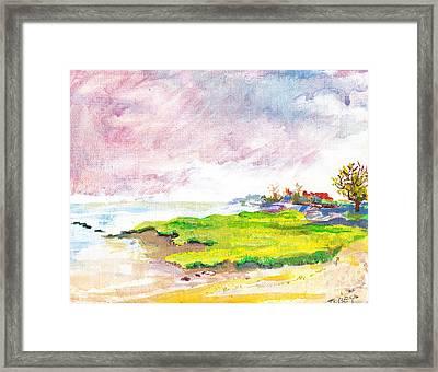 Connecticut Shore Framed Print by Vannucci Fine Art