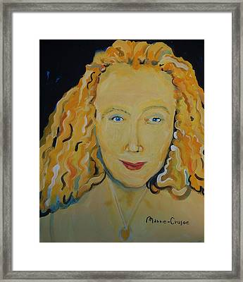 Connie Crothers Framed Print by Jay Manne-Crusoe