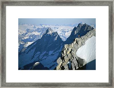 Conrad Anker On Mount Combatant, Coast Framed Print by Jimmy Chin