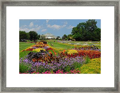 Framed Print featuring the photograph Conservatory Gardens by Lynn Bauer