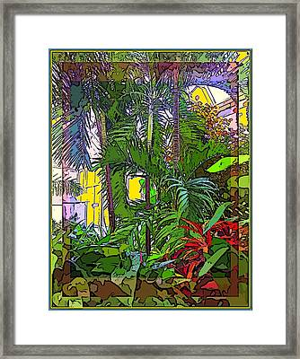 Conservatory Sunlight Framed Print by Mindy Newman