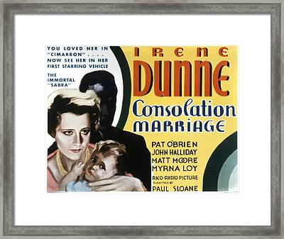 Consolation Marriage, Irene Dunne Framed Print