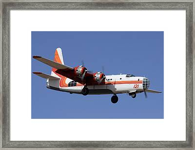 Consolidated P4y-2 Privateer N2871g Tanker 121 Phoenix-mesa Gateway Airport March 9 2012 Framed Print by Brian Lockett