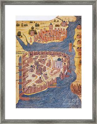 Constantinople, 1485 Framed Print by Photo Researchers