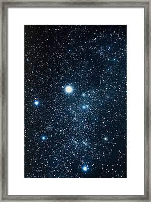 Constellation Auriga With Halo Effect Framed Print