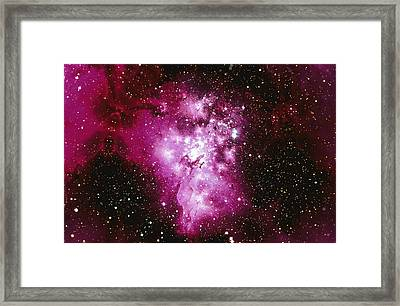 Constellation Image Generated By Computer Graphics Framed Print by Stocktrek