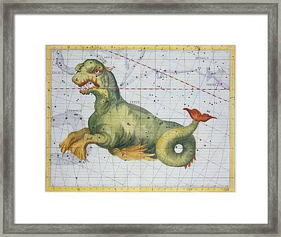 Constellation Of Cetus The Whale Framed Print