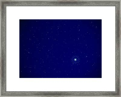 Constellation Of Leo With Jupiter Framed Print by Pekka Parviainen