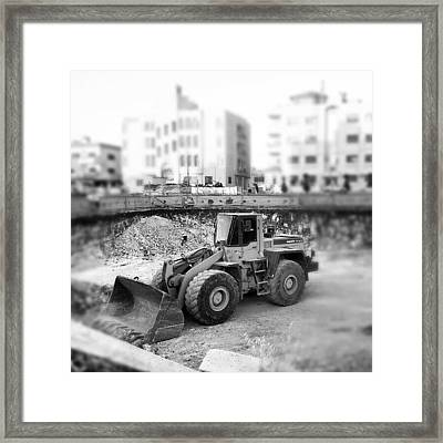 #constraction #blackandwhite #bnw #bw Framed Print
