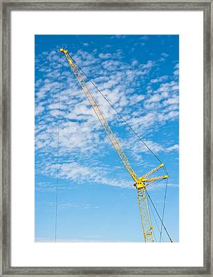 Construction Crane Framed Print by Tom Gowanlock