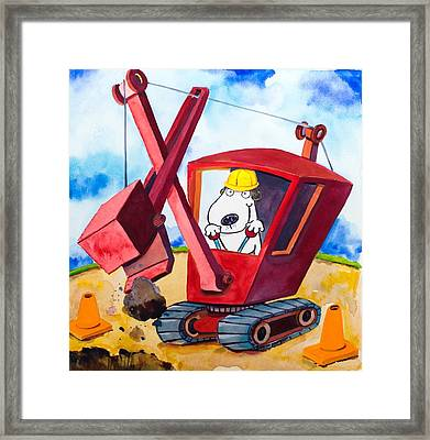 Construction Dogs 2 Framed Print by Scott Nelson