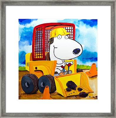 Construction Dogs Framed Print