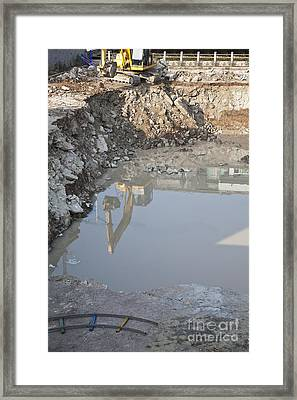 Construction Site Framed Print by Shannon Fagan