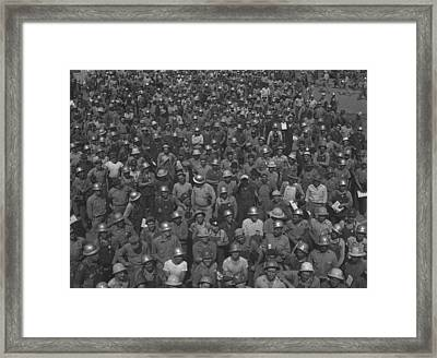Construction Workers Of The 7 Am To 3 Framed Print by Everett