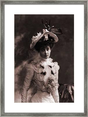 Consuelo Vanderbilt 1877-1964 Framed Print by Everett