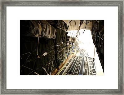 Container Delivery System Bundles Drop Framed Print by Stocktrek Images
